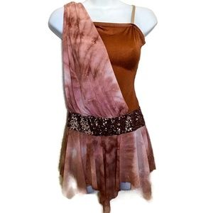 Curtain Call SequinTie Dye Grecian Dance Costume